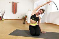 Imagen sobre el tema de LeaLight durante un entrenamiento de estiramiento