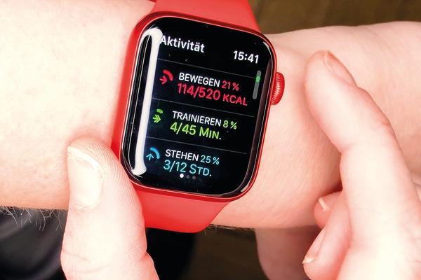 Apple Watch 6 muestra actividad