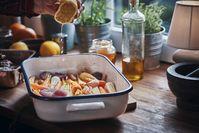 Imagen sobre el tema de las verduras al horno con jugo de limón.