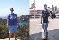Imagen sobre el tema del antes y el después de la imagen del hombre.