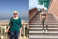 Imagen sobre el tema del antes y el después de la imagen de la mujer.